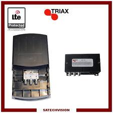 Préamplificateur et Alimentation LTE Triax EAM 225 2 Entrées BIII & UHF 28 dB