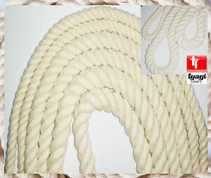 Cotton Twisted Rope Cord Sash DIY Sewing HORSE LEAD BAG HANDLE Craft Twine