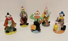 Antique Ceramic Clowns (set of 5) Mint Condition See Photos for details
