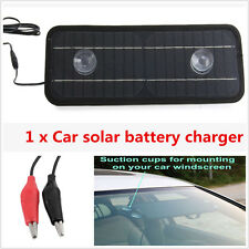 Portable Solar Car Battery Charger Silicon Panel Maintainer Bundle Powe 12V-5V