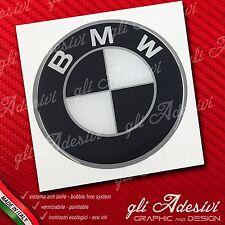 1 Adesivo Resinato Sticker 3D BMW70 mm Black