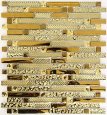 Mosaïque translucide crystal composite verre EP or cuisine 86-0107_f |10 plaques