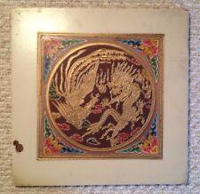 1964-1965 NY World's Fair China Pavilion Original Hand-Painted Ceiling Tile