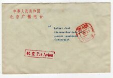 CHINA 1962 COVER TO AUSTRIA, TAXE PERCUE PEKING IN RED, CODE G