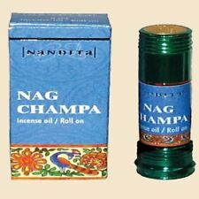 Nandita Nag Champa Incense Oil Roll-On - 8mL Bottles X 3