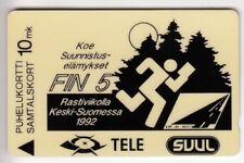 EUROPE  TELECARTE / PHONECARD .. FINLANDE 10MK GPT 20FINA SKI DE FOND 1992