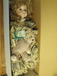 "The Doll Maker ""CHRISTINE"" DOLL- #81/1000, w/ Bear, Hat, Box & Certificate- MINT"