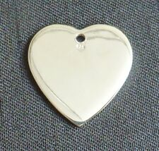 Sterling silver heart shaped stamping blank heart pendant engraving charm