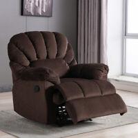 Premium Suede Recliner Chair Overstuffed Backrest Footrest Living Room Sofa