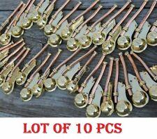 "Lot Of10 Pc Nautical Brass Boatswain'S Pipe Bosun Whistle Key Chain 3"""