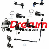10PC Front Tie Rod End Lower Ball Joint Rear Sway Bar Link Set For  Civic  El