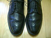 Men's Dress Shoes FLORSHEIM IMPERIAL Oxford Sz 10 C Black Leather WINGTIP 5 NAIL