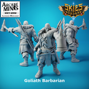 D&D Miniature Goliath Barbarian with Hammer Dungeons and Dragons