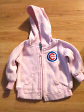 Girls Chicago Cubs Baseball Pink Embroidered Hoodie Jacket-18 mo