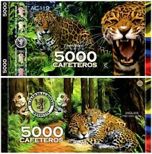 Colombia 5000 Cafeteros  El Club De La Moneda 2014 2015 Jaguar UNC