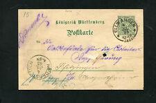 Württ. - DP29 aus Ellwangen  1903. Loch in der Mitte     (EB-16)