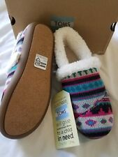 Girl's TOMS Shoes / Slipper Slip on Shoe NEW Shearling Size 5 TOM'S YOUTH