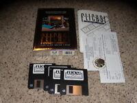 "Flicks! Film Review Library PC IBM CIB Near Mint 3.5"" floppy disks"