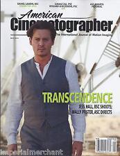 American Cinematographer Magazine Transcendence Johnny Depp Under The Skin Ida
