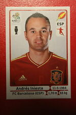 Panini EURO 2012 N. 299 ESPANA INIESTA NEW With BLACK BACK TOPMINT!!