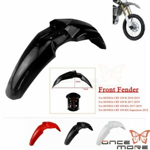 Front Mud Fender Mudguard For Honda CRF450R CRF250R 2018 Off Road Supermoto Bike