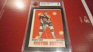 1970-71 O-PEE-CHEE OPC #3 BOBBY ORR KSA 5 GRADED HOCKEY CARD - BRUINS HOF !!!