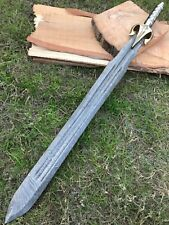 """32"""" BDS CUTLERY RARE CUSTOM MADE DAMASCUS STEEL 1-OF-A-KIND HUNTING SWORD, UK-15"""