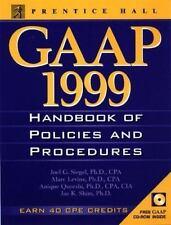 Gaap Handbook of Policies and Procedures, 1999