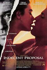 INDECENT PROPOSAL (1993) ORIGINAL MOVIE POSTER  -  ROLLED