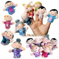 6Pcs Mini Cute Family Finger Puppets Cloth Doll Kids Toddlers Educational Toys