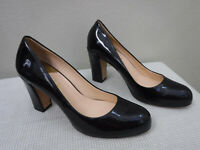 Women's COLE HAAN AMBROSE AIR 10 B Black Patent Leather Heels Pumps Dress Shoes