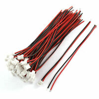 50Pcs 2mm Single End 2P Male JST-XH Balance Connector Extension Wire