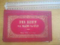 Guide Panorama Relief des Bords du Rhin Mayence Cologne XIX siècle avec livret