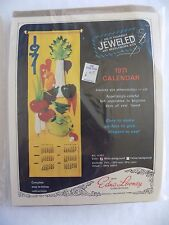 "1971 Calendar Jeweled Art Needlework Kit Edna Loony Original 11""x33"" Vintage NIP"