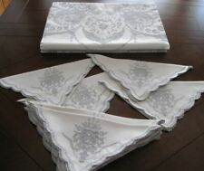 Appenzell Tablecloth Lg 12 Napkins Figural Cherubs Embroidery Cutwork Hand Made