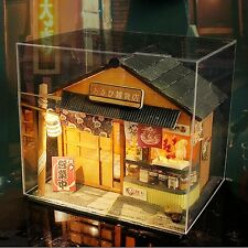 Dollhouse Miniature DIY Model Kit w/ Cover Japanese Grocery Store Shop House NEW