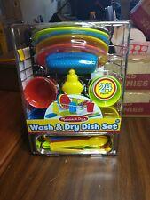 Melissa and Doug Wash and Dry Dish Set, New,