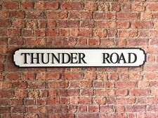 Vintage Wood Street Sign THUNDER ROAD