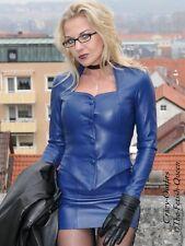 Leder Jacke Lederjacke Blau Business-Style Maßanfertigung