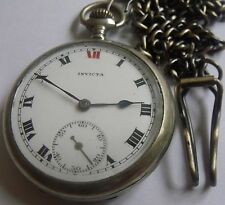 VERY RARE-INVICTA-SWISS POCKET WATCH