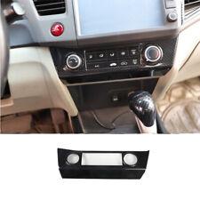 For Honda Civic 9th 2012 2015 Carbon Fiber Console Ac Switch Control Panel Trim Fits 2013 Honda Civic Si