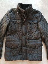 chaqueta belstaff ashbourne diamond quilted black, en talla M