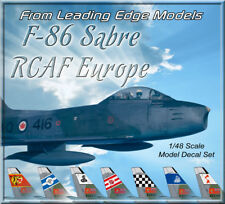1/48 F-86 Sabre RCAF Mk5/6 Camo Europe Squadrons model decal set by Leading Edge