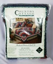 Country Cottage Handmade Patchwork Quilt Set w/Shams Full/Queen - NEW IN PKG