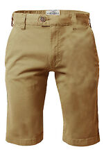 Threadbare Stretch Chino Shorts, Light Stone Beige, Slim Fit, Cotton