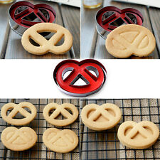 Stainless Steel Cookie Cutter Plunger Pastry Cake Decorating Bagels Biscuit Mold