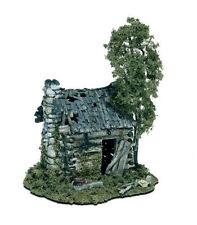 Woodland Scenics Abandoned Log Cabin Mini-Scene HO Scale Kit #M101, BNOS