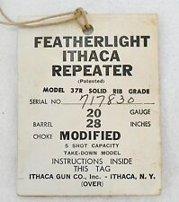 Vintage Featherlight Ithaca 20 Gauge Shotgun Instructions