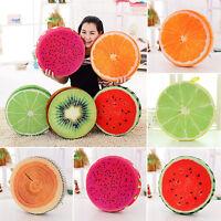 Soft Round Pillow Plush Cushion Orange Kiwi Watermelon 3D Fruits Toys Seat Pads