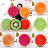 Soft Round Pillow Plush Cushion Orange Kiwi Watermelon 3D Fruits Toys Seat Pads